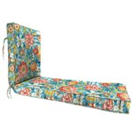 Jordan Manufacturing 80-Inch Outdoor Chaise Lounge Cushion in Blue/Multi