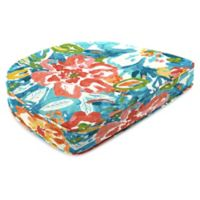 Print Contoured Boxed Seat Cushion in Sunriver Sky