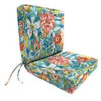 Print 44-Inch Boxed Edge Dining Chair Cushion in Sunriver Sky