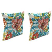 Print 16-Inch Square Tufted Throw Pillows in Sunriver Sky (Set of 2)
