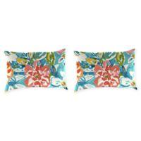 Print Outdoor Lumbar Throw Pillows in Sunriver Sky (Set of 2)