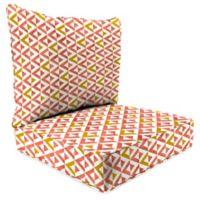 Jordan Manufacturing Tropez 2-Piece Deep Seat Chair Cushion in Coral