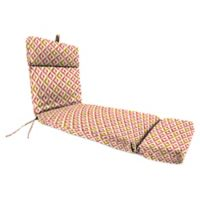 Jordan Manufacturing Tropez 72-Inch Chaise Lounge Cushion in Coral