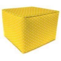 Jordan Manufacturing Square Pouf in Mini Dots Pineapple