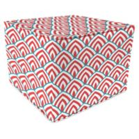 Lalo Calypso Square Outdoor Pouf in Red