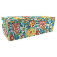 Jordan Manufacturing Sunriver Sky Outdoor Rectangle Pouf Ottoman in Blue