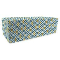 Jordan Manufacturing Tropez Outdoor Rectangle Pouf Ottoman in Cobalt