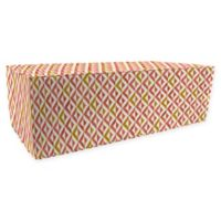 Jordan Manufacturing Tropez Outdoor Rectangle Pouf Ottoman in Coral