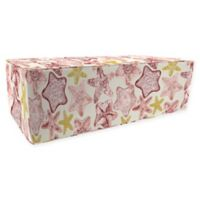 Jordan Manufacturing Seabiscuit Double Pouf Ottoman in Coral
