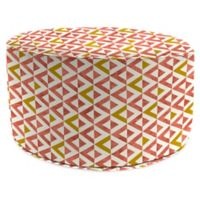 Jordan Manufacturing Tropez 24-Inch Round Pouf Ottoman in Coral