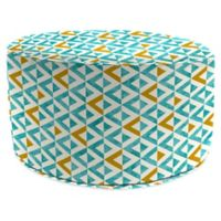 Jordan Manufacturing Tropez 24-Inch Round Pouf Ottoman in Turquoise