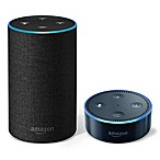 Amazon Echo (2nd Generation) in Charcoal with Echo Dot in Black