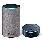 Amazon Echo (2nd Generation) in Heather Grey with Echo Dot in Black