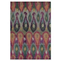 Rugs America Beverly Ikat 4' x 5'7 Area Rug in Green