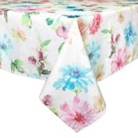 Bardwil Linens Floral Garden 60-Inch x 120-Inch Oblong Tablecloth
