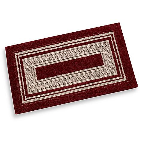 double border accent rug in garnet bed bath beyond. Black Bedroom Furniture Sets. Home Design Ideas