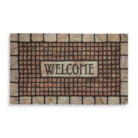 Mosaic Terracotta Rubber Door Mat