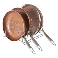 Lavish Home Pot and Pan Organizer Rack in Silver