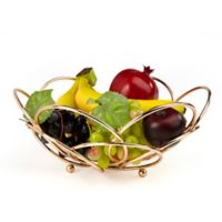 Mind Reader Modern Rose Fruit and Vegetable Bowl in Gold