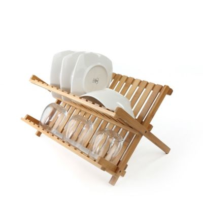 Mind Reader Bamboo Dish Drying Rack in Brown  sc 1 st  Bed Bath u0026 Beyond & Buy Kitchen Plate Organizers from Bed Bath u0026 Beyond