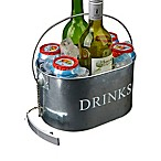 Mind Reader 6-Drink Oval Bottle Caddy in Silver