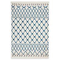 Nourison Kamala 7'10 x 10'6 Power-Loomed Area Rug in White/Blue