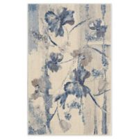 Nourison Somerset 2'6 x 4' Accent Rug in Ivory/Blue