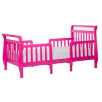 Dream On Me Emma 3-in-1 Convertible Toddler Bed in Fuchsia