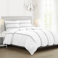 Cersei Twin/Twin XL Comforter Set in White/Black