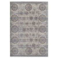 Rugs America Beverly Vintage-Inspired 4' x 5'7 Area Rug in Grey/Ivory
