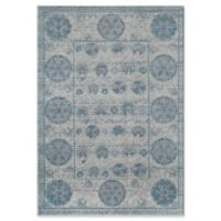 Rugs America Beverly Vintage-Inspired 4' x 5'7 Area Rug in Ivory/Blue