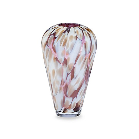 Evolution By Waterford Urban Safari 12 Inch Spotted Crystal Vase