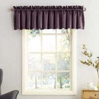 Sun Zero Bella Rod Pocket Room Darkening Window Valance in Plum