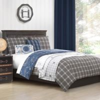 Baxton Studio Little Traveler 5-Piece Reversible Twin Comforter Set in Khaki