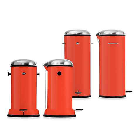 Vipp limited edition red step can pedal bins bed bath for Red bathroom bin