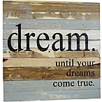 "Sweet Bird & Co. ""Dreams Come True"" 30-Inch Square Wood Wall Art"