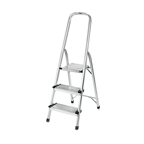 Polder 174 3 Step Ultra Light Step Ladder In Aluminum Bed