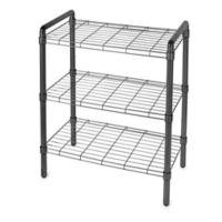 3-Tier Adjustable Storage Rack in Black
