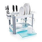 Minky Homecare® 2-Tier Extending Dish Rack in White