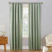 Sun Zero Atticus 95-inch Rod Pocket Room Darkening Window Curtain Panel in Cucumber