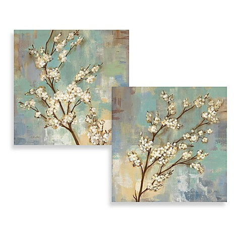 Wall Art Set Of 2 kyoto blossoms wall art (set of 2) - bed bath & beyond