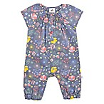 Just Born® Room To Grow Size 9M Floral Coverall in Navy