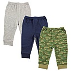 Luvable Friends® Size 3-6M 3-Pack Camo Pants in Army Green