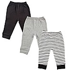 Luvable Friends® Size 3-6M 3-Pack Pants in Black