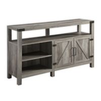 "Forest Gate 58"" Wheatland Farmhouse Wood Barndoor Console in Grey Wash"