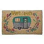 "Trade Associates Group 18"" x 30"" Happy Camper Coir Multicolor Door Mat<br />"