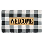 Buffalo Plaid Welcome 18-Inch x 30-Inch Multicolor Coir Door Mat