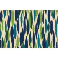 Bits N Pieces 18-Inch x 30-Inch Coir Door Mat in Blue/Green