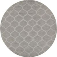 Chandra Rugs Mystica Hand-Tufted 8' Round Area Rug in Grey