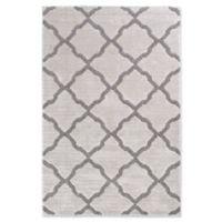 Trisha Yearwood Stillwater Pipestone Glass Woven 5' x 7'6 Area Rug in Grey/White